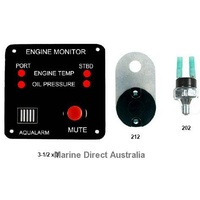 Oil & Temp Monitor Kit- Twin Engine Bolt On
