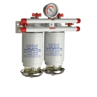 Vetus Marine Part     75340VTEB     Water separator/fuel filter CE/ABYC, double, 10 micron, max. 84 gph (380 l/h),